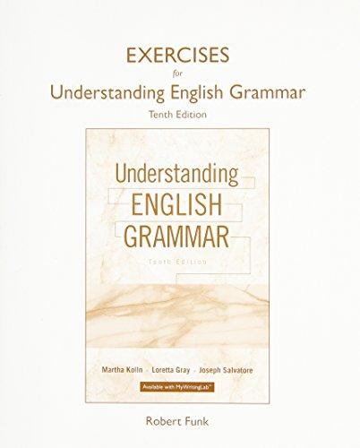 9780134014272: Exercise Book for Understanding English Grammar