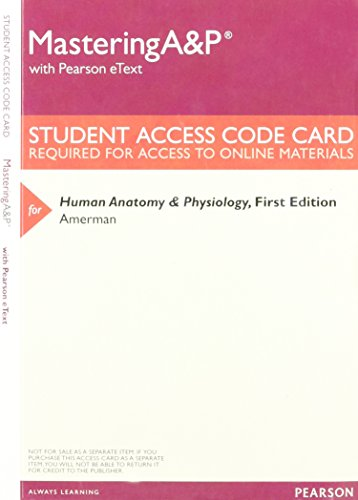 9780134014821: Mastering A&P with Pearson eText -- ValuePack Access Card -- for Human Anatomy & Physiology