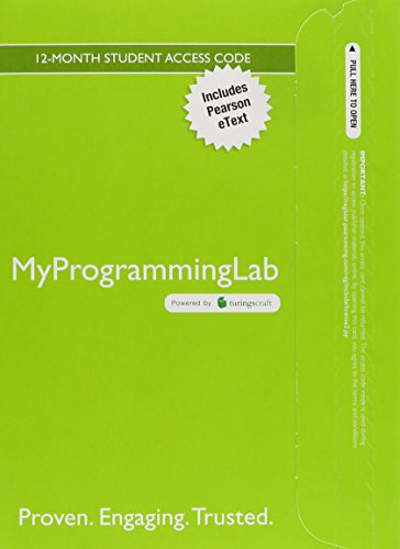 9780134014869: MyLab Programming with Pearson eText -- Standalone Access Card -- for Starting Out with C++: From Control Structures through Objects, Brief Version