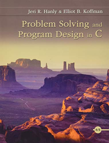 9780134014890: Problem Solving and Program Design in C (8th Edition)
