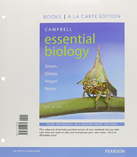 9780134014975: Campbell Essential Biology, Books a la Carte Edition (6th Edition)