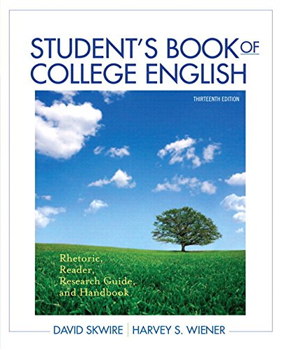 9780134017228: Student's Book of College English: Rhetoric, Reader, Research Guide and Handbook Plus MyWritingLab with eText -- Access Card Package (13th Edition)