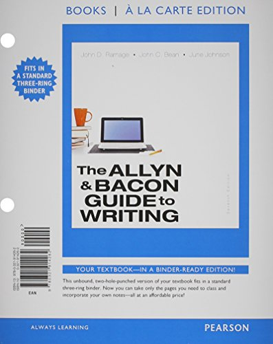 The Allyn & Bacon Guide to Writing,