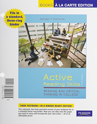 9780134019055: Active Reading Skills: Reading and Critical Thinking in College, Books a la Carte Plus MyLab Reading with Pearson eText -- Access Card Package (3rd Edition)