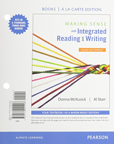 9780134021096: Making Sense with Integrated Reading and Writing, Books a la Carte Edition