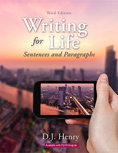 9780134021706: Writing for Life: Sentences and Paragraphs (3rd Edition)