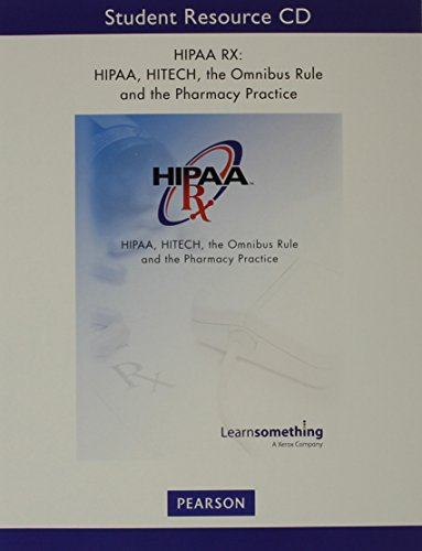 9780134021836: HIPAA, HITECH, the Omnibus Rule and the Pharmacy Practice