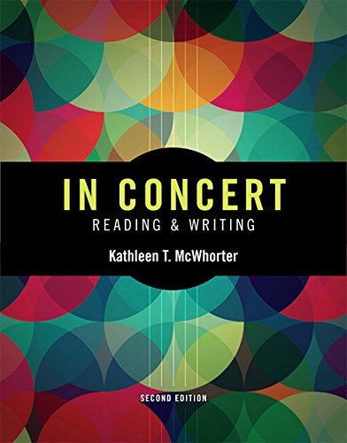 9780134023878: In Concert: An Integrated Approach to Reading and Writing Plus Myskillslab with Pearson Etext -- Access Card Package (McWhorter, the Reading & Writing Series, 2nd Edition)