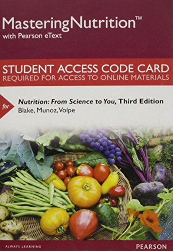 9780134024370: Mastering Nutrition with MyDietAnalysis with Pearson eText - Standalone Access Card - for Nutrition: From Science to You (3rd Edition)