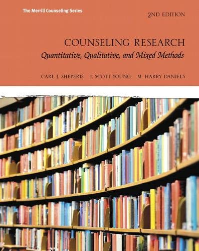 9780134025094: Counseling Research: Quantitative, Qualitative, and Mixed Methods (Merrill Counseling)