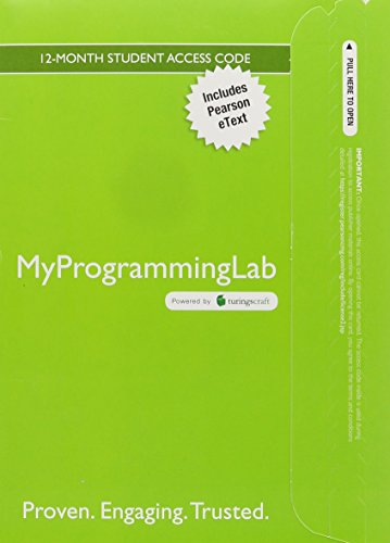 9780134026244: MyLab Programming with Pearson eText -- Access Card -- for Introduction to Computing and Programming in Python (My Programming Lab)
