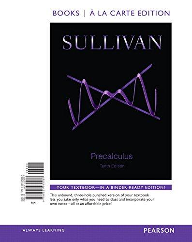 Precalculus, Books a la Carte Edition Plus NEW MyMathLab -- Access Card Package (10th Edition): ...