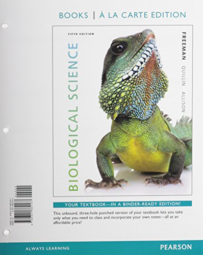 9780134027371: Biological Science, Books a la Carte Edition & Modified MasteringBiology with Pearson eText -- ValuePack Access Card -- for Biological Science Package