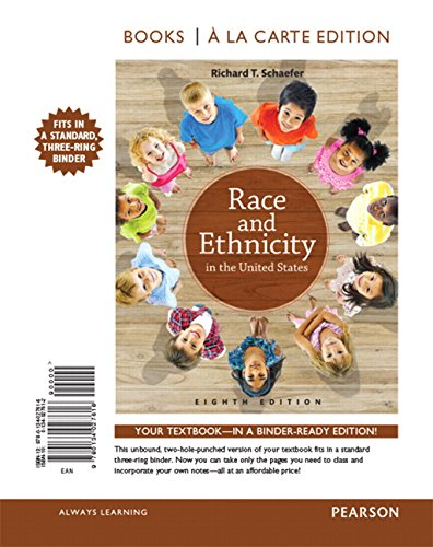 9780134027616: Race and Ethnicity in the United States , Books a la Carte Edition (8th Edition)