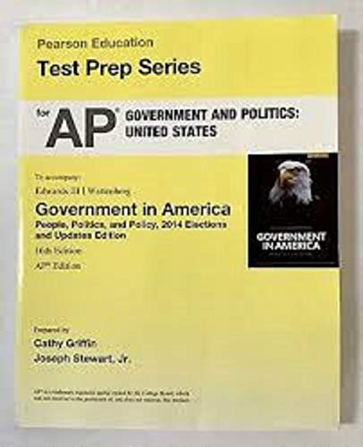 9780134036267: Pearson Education Test Prep Series for AP Government and Politics: United States