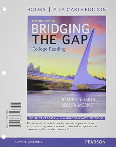 9780134036854: Bridging the Gap, Books a la Carte Plus NEW MyReadingLab with eText -- Access Card Package (11th Edition)