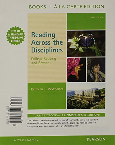 9780134036861: Reading Across the Disciplines: College Reading and Beyond, Books a la Carte Edition Plus NEW MyLab Reading with eText - Access Card Package (6th Edition)
