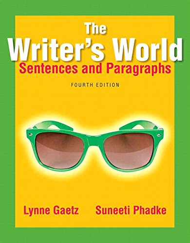 9780134038216: The Writer's World: Sentences and Paragraphs Plus Mywritinglab with Pearson Etext -- Access Card Package