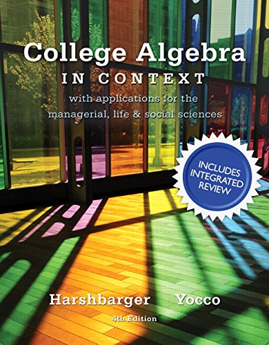 9780134040127: College Algebra in Context with Integrated Review plus MML Student Access Card and Sticker (5th Edition)