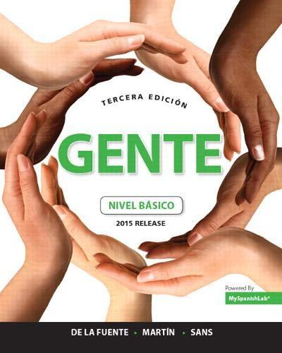 Gente: nivel básico, 2015 Release (3rd Edition): María José de la Fuente; Ernesto J. Martín ...