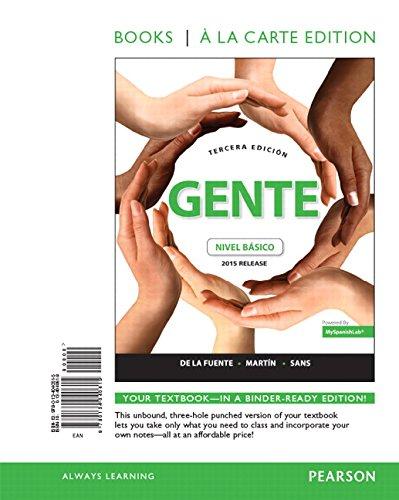 9780134040615: Gente: Nivel Basico, 2015 Release, Books a la Carte