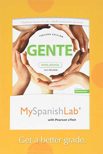 9780134041155: MyLab Spanish with Pearson eText -- Access Card -- for Gente: nivel básico, 2015 Release (Multi Semester) (3rd Edition)