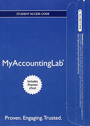 9780134041216: Myaccountinglab with Pearson Etext -- Access Card -- For Intermediate Accounting