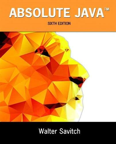 9780134041674: Absolute Java (6th Edition)