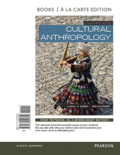9780134041810: Cultural Anthropology, Books a la Carte Edition (14th Edition)