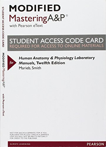 9780134043166: Modified Mastering A&P with Pearson eText -- Valuepack Access Card -- For Human Anatomy & Physiology Laboratory Manuals