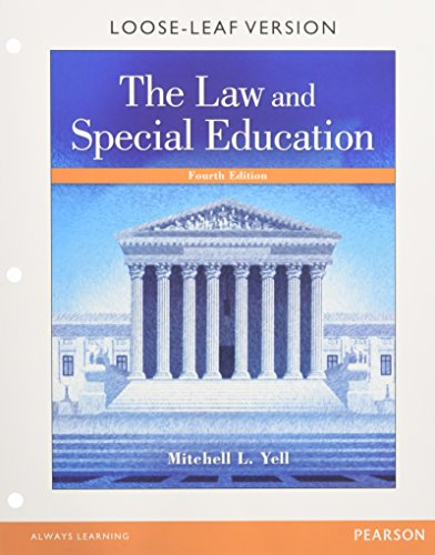 9780134043395: Law and Special Education, The, Enhanced Pearson eText with Loose-Leaf Version -- Access Card Package (4th Edition)
