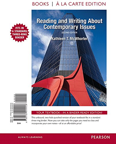 9780134044453: Reading and Writing About Contemporary Issues, Books a la Carte Edition (2nd Edition)