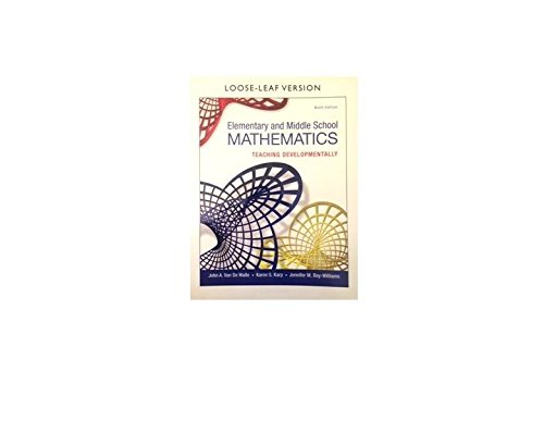 9780134046952: Elementary and Middle School Mathematics: Teaching Developmentally