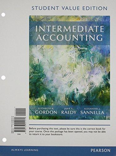 Intermediate Accounting - Myaccountinglab - Pearson Etext Access Card Student Value Edition: Gordon...