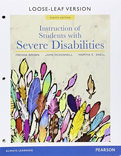 9780134047980: Instruction of Students with Severe Disabilities, Pearson eText - Access Card (8th Edition)