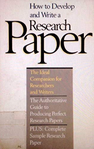 9780134048727: How to Develop and Write a Research Paper