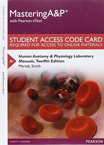 9780134051666: Masteringa&p with Pearson Etext -- Standalone Access Card -- For Human Anatomy & Physiology Laboratory Manuals