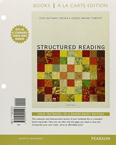 9780134052991: Structured Reading, Books a la Carte Plus MyLab Reading with eText -- Access Card Package (8th Edition)