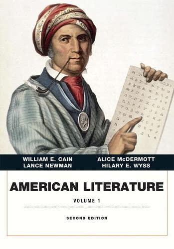 9780134053325: American Literature, Volume I (2nd Edition)