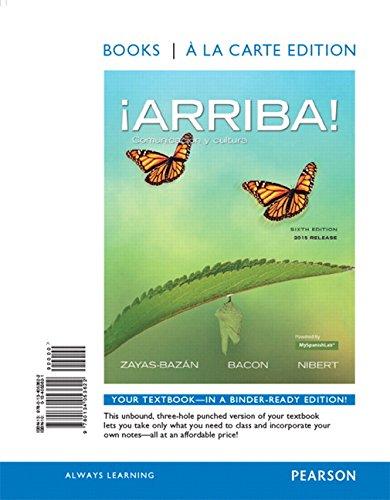 9780134053622: ¡Arriba!: comunicación y cultura, 2015 Release, Books a la Carte Edition (6th Edition)