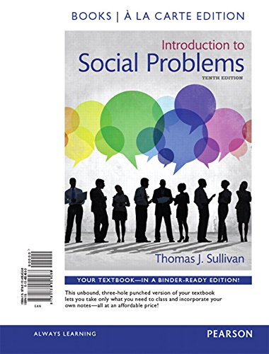 9780134054568: Introduction to Social Problems, Books a la Carte Edition (10th Edition)