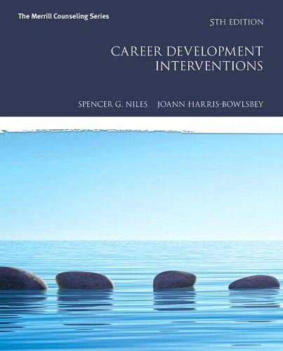 9780134055824: Career Development Interventions with MyLab Counseling with Pearson eText -- Access Card Package (5th Edition) (Merrill Counseling)
