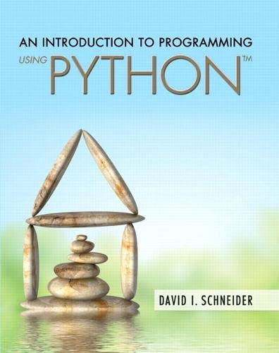 9780134058221: An Introduction to Programming Using Python