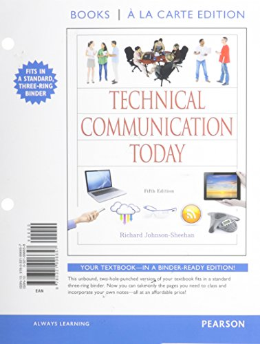 9780134059341: Technical Communication Today, Books a la Carte Plus MyLab Writing with eText -- Access Card Package (5th Edition)