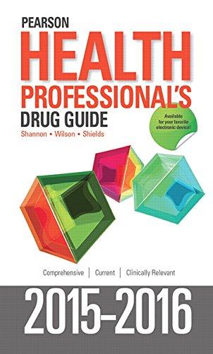 9780134062198: Pearson Health Professional's Drug Guide 2015-2016
