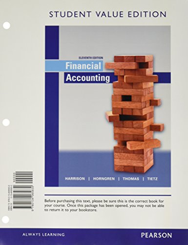 9780134065830: Financial Accounting, Student Value Edition (11th Edition)
