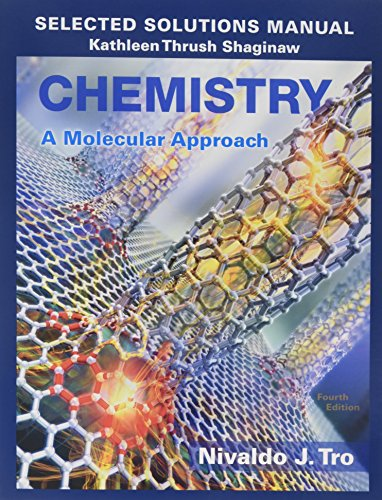 9780134066288: Selected Solutions Manual for Chemistry: A Molecular Approach