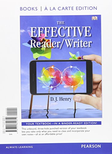 9780134066493: The Effective Reader/Writer, Books a la Carte Plus MyLab Reading & Writing Skills with Pearson eText -- Access Card Package