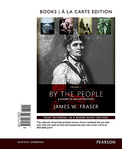 9780134067599: By the People: Volume 1, Books a la Carte Edition