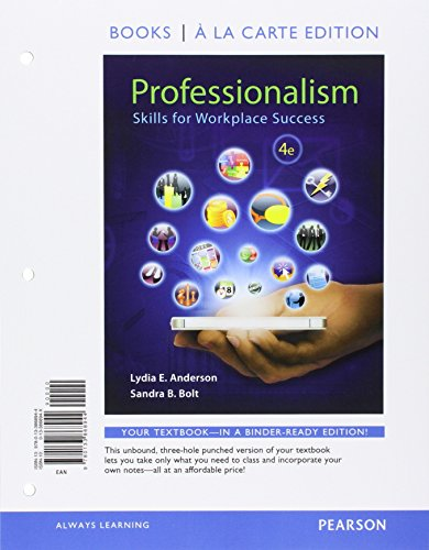 9780134067841: Professionalism: Skills for Workplace Success, Student Value Edition Plus NEW MyLab Student Success with Pearson eText (4th Edition)